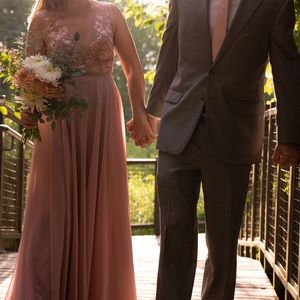 Jenny Yoo Kinsley Dress in whipped apricot